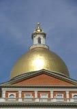 Cupola dorata del corridoio di città di Boston Fotografia Stock