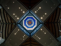 Cupola e soffitto in una chiesa Immagini Stock Libere da Diritti