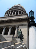 Cupola e statua Capitolio Fotografie Stock