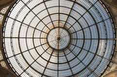 Cupola of the Galleria Vittorio Emanuele II in Milano, Itlay Royalty Free Stock Photo