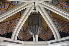 Cupola with geometrical  decoration Royalty Free Stock Photo