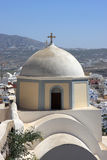 Cupola of greek orthodox church Royalty Free Stock Photo