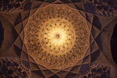 Cupola in Imam mosque Stock Images