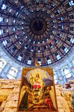 Cupola inside Voskresensky church Royalty Free Stock Images