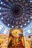 Cupola inside Voskresensky church Royalty Free Stock Images