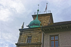 Cupola of Jesuit Church in the Old City of Solothurn Stock Photography