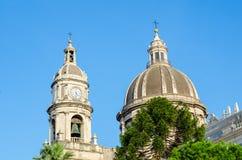 Cupola Katedralny Santa Agatha Catania, Sicily, Włochy Obraz Stock