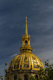 Cupola of Les Invalides, evening light Stock Images