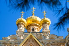 Cupola of Maria Magdalena church in Jerusalem Royalty Free Stock Image