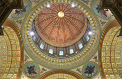 Cupola of Mary Queen of the World Cathedral. Montreal, Quebec, Canada Royalty Free Stock Image