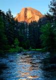 Cupola mezza Yosemitie Fotografie Stock