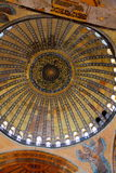 Cupola of mosque Hagia Sofia Royalty Free Stock Images