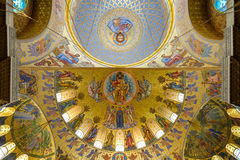 Cupola of Naval St. Nicholas Cathedral in Kronstadt. Royalty Free Stock Photos