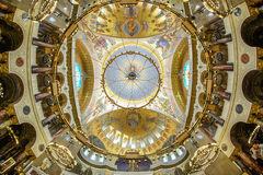 Cupola of Naval St. Nicholas Cathedral in Kronstadt. Stock Photo