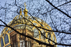 Cupola of the new synagogue Berlin Royalty Free Stock Photography