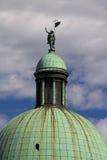 Cupola piccola della chiesa del San Simeon a Venezia Italia immagini stock