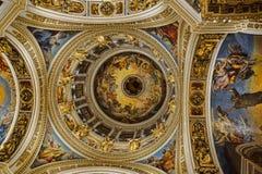 Cupola principale della cattedrale del ` s della st Isaac Fotografia Stock Libera da Diritti