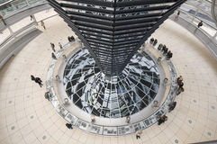 In the cupola, Reichstag, Berlin Stock Photography