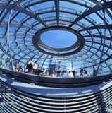 Cupola of the Reichstag Royalty Free Stock Photo