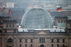 Cupola of the Reichstag Stock Images