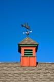 Cupola rossa del granaio fotografia stock
