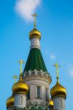 Cupola of Russian church in Sofia city, Bulgaria Stock Images