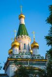Cupola of Russian church in Sofia city, Bulgaria Stock Photos