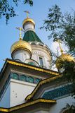 Cupola of Russian church in Sofia city, Bulgaria Stock Photo