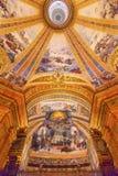 Cupola San Francisco el Grande Madrid Spain dell'affresco di Dio Immagini Stock Libere da Diritti