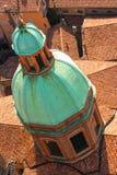 Cupola of Santi Bartolomeo e Gaetano church. View from Torre (Tower) Asinelli, Bologna, Italy Stock Image