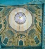 Cupola of Shah Nematollah Vali Mausoleum, Mahan, Iran stock photography