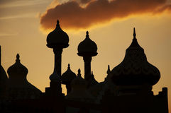 Cupola silhouette on the sunset Stock Photo