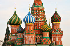 Cupola of St. Basil Cathedral. In Moscow Royalty Free Stock Image