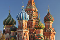 Cupola of St. Basil Cathedral Royalty Free Stock Image