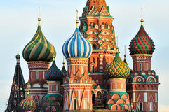 Cupola of St. Basil's Cathedral. In Moscow Royalty Free Stock Photo