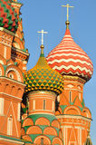 Cupola of St.Basil's Cathedral in Moscow Stock Images