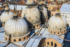 Cupola of St. Marco church in Venice Stock Photo