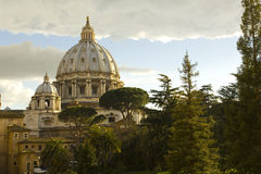 Cupola of St. Peter's Basilica Royalty Free Stock Image