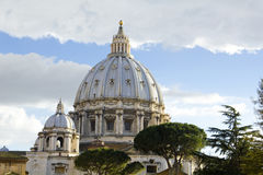 Cupola of St. Peter's Basilica Royalty Free Stock Photo