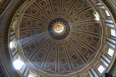 Cupola of st. Peters cathedral in Rome Royalty Free Stock Photos
