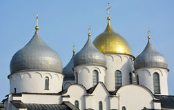 Cupola of the St. Sofia cathedral Stock Images