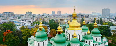 Cupola of St. Sophia Cathedral. Kiev Royalty Free Stock Photo