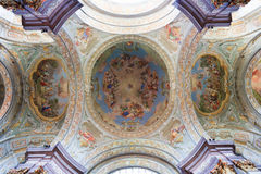 Cupola of St. Stephan. The cupola of St. Stephan of monastery Herzogenburg in Austria (trompe d'oeil stock images