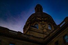 Cupola su Alberta Legislature Building Edmonton Alberta Canada immagine stock libera da diritti