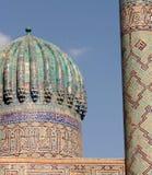 Cupola. Tilla-Kori Madrasah, Samarcanda Fotografia Stock Libera da Diritti