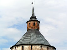 Cupola to old stone watchtower. Royalty Free Stock Photography