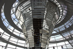 The Cupola on top of the Reichstag building in Berlin Stock Photo