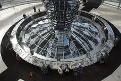The Cupola on top of the Reichstag building in Berlin Stock Image