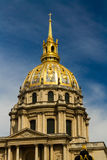 Cupola and tower of Les Invalides, evening light Royalty Free Stock Images