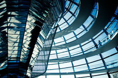 Cupola trasparente di Reichstag Fotografia Stock